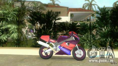 Yamaha FZR 750 midnight black für GTA Vice City linke Ansicht
