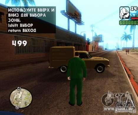 Сar Laich-Spawn Autos für GTA San Andreas zweiten Screenshot