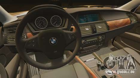 BMW X5M pour GTA 4 est une vue de l'intérieur