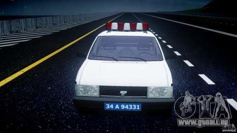 Tofas Sahin Turkish Police v1.0 pour GTA 4 est un côté