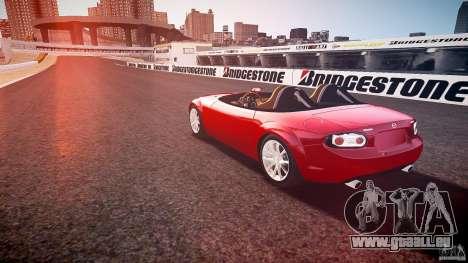 Mazda Miata MX5 Superlight 2009 für GTA 4 hinten links Ansicht