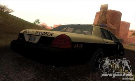 Ford Crown Victoria Florida Police pour GTA San Andreas laissé vue