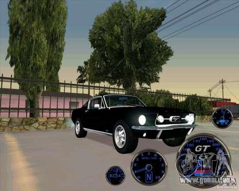 Ford Mustang Fastback pour GTA San Andreas sur la vue arrière gauche