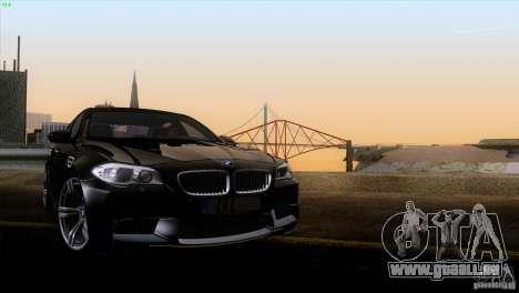 BMW M5 2012 pour GTA San Andreas vue de dessus