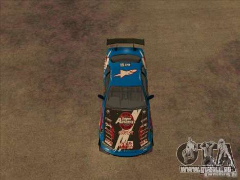 Nissan Skyline GT-R R34 Super Autobacs für GTA San Andreas Rückansicht