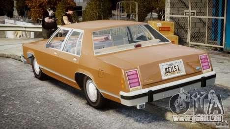 Ford Crown Victoria 1983 für GTA 4 obere Ansicht