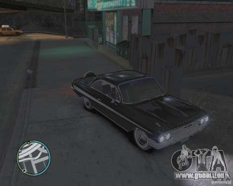 Chevrolet Impala 1961 pour GTA 4 est un droit