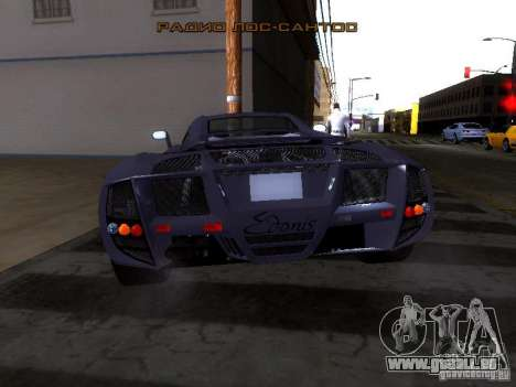 B Engineering Edonis pour GTA San Andreas vue arrière
