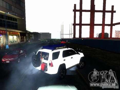Toyota 4Runner 4X4 pour GTA San Andreas sur la vue arrière gauche