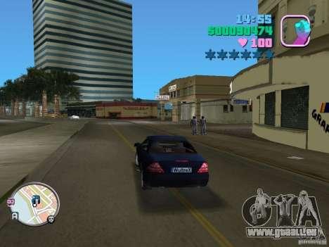 Mercedes-Benz E350 pour une vue GTA Vice City de la droite