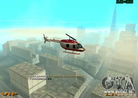 New Maverick pour GTA San Andreas sur la vue arrière gauche