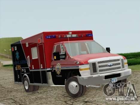 Ford E-350 AMR. Bone County Ambulance für GTA San Andreas linke Ansicht