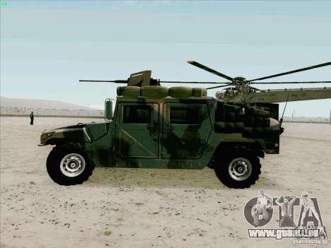 Hummer H1 pour GTA San Andreas laissé vue