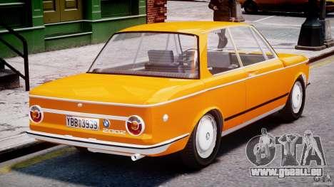 BMW 2002 1972 pour GTA 4 vue de dessus