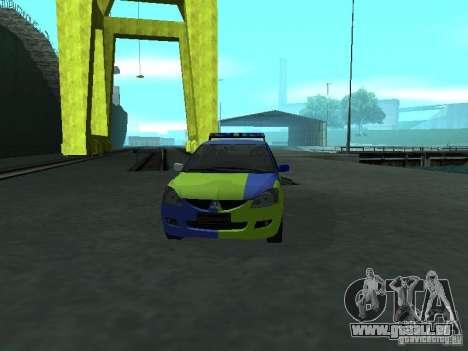 Mitsubishi Lancer-Polizei für GTA San Andreas Innenansicht