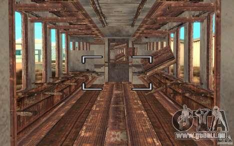 Un train de la jeu s.t.a.l.k.e.r. pour GTA San Andreas vue de droite