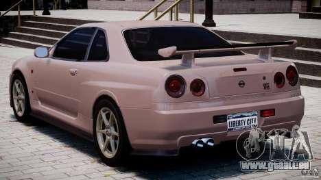 Nissan Skyline GT-R 34 V-Spec für GTA 4 rechte Ansicht