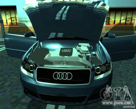 Audi A4 Cabrio pour GTA San Andreas laissé vue