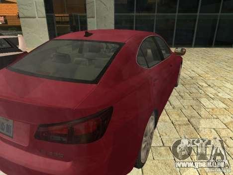 Lexus IS 350 für GTA San Andreas rechten Ansicht