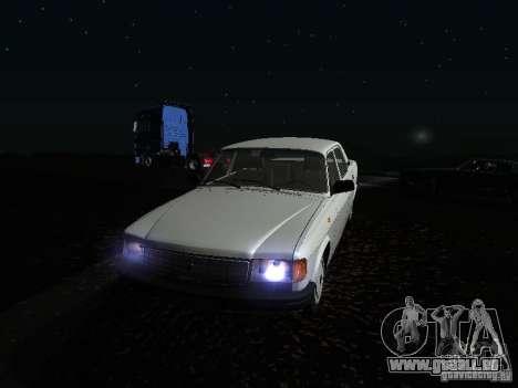 Volga GAZ 31029 pour GTA San Andreas vue de dessus