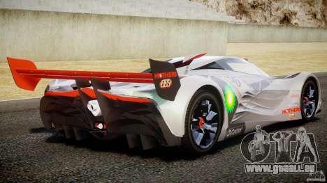 Mazda Furai Concept 2008 für GTA 4 Unteransicht