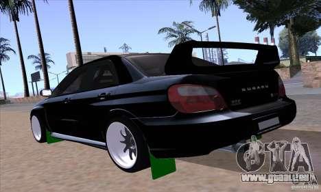 Subaru Impresa WRX light tuning pour GTA San Andreas laissé vue