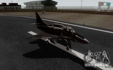 McDonnell Douglas A-4AR Fightinghawk pour GTA San Andreas sur la vue arrière gauche