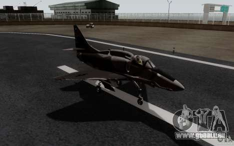McDonnell Douglas A-4AR Fightinghawk für GTA San Andreas zurück linke Ansicht