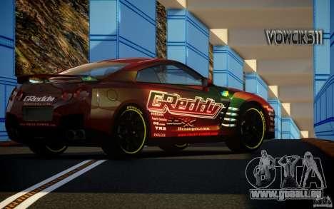 Nissan GT-R Black Edition GReddy für GTA 4 linke Ansicht