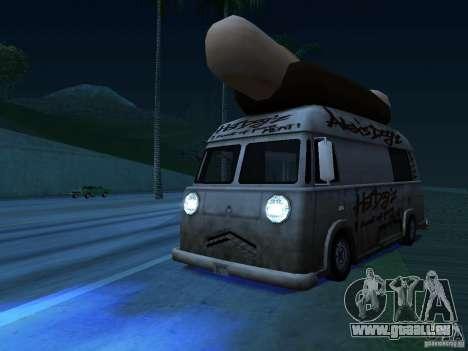 Nettoyez la vitre dans le Hotdog-e pour GTA San Andreas vue arrière