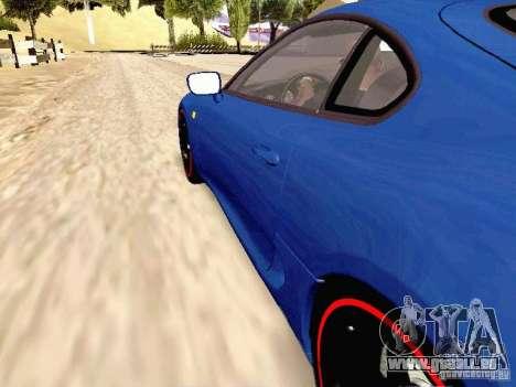 Toyota Supra Drift Edition pour GTA San Andreas vue arrière