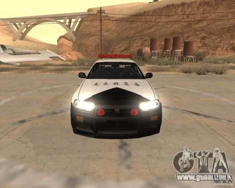 Nissan Skyline Japan Police für GTA San Andreas