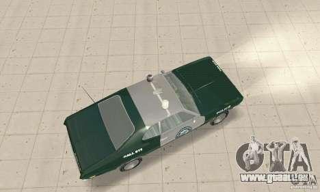 Plymouth Duster 340 Police pour GTA San Andreas sur la vue arrière gauche