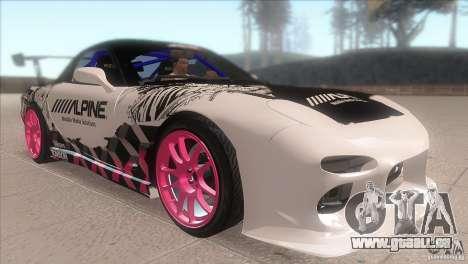Mazda RX-7 FD K.Terej pour GTA San Andreas vue arrière