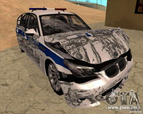 BMW M5 E60 DPS pour GTA San Andreas salon
