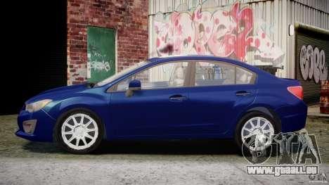 Subaru Impreza Sedan 2012 pour GTA 4 est une gauche