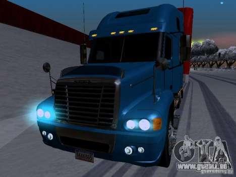 Freightliner Century pour GTA San Andreas vue intérieure