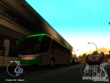 Bus Kramat Djati für GTA San Andreas linke Ansicht