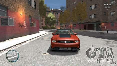 Ford Mustang Boss 302 2012 für GTA 4 Rückansicht