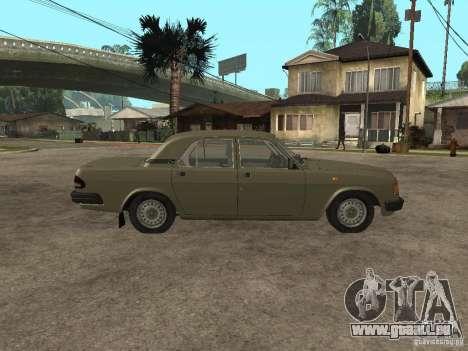 GAZ 3110 v 1 pour GTA San Andreas laissé vue