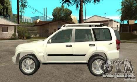Jeep Liberty 2007 pour GTA San Andreas laissé vue