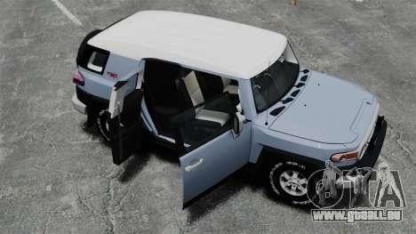 Toyota FJ Cruiser pour GTA 4 vue de dessus