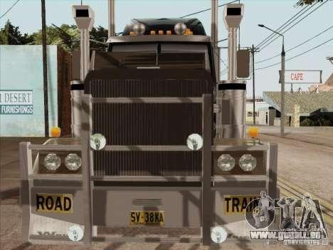Western Star 4900 Aust pour GTA San Andreas vue intérieure