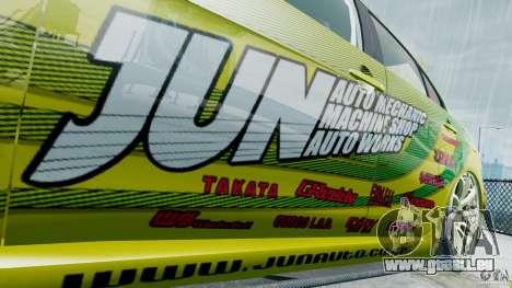 Mitsubishi Lancer X JUN pour GTA 4 Vue arrière