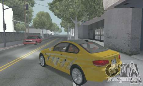 BMW M3 E92 Stock pour GTA San Andreas salon