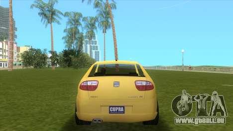 Seat Leon Cupra R pour une vue GTA Vice City de la droite