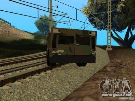 Hummer H2 Army pour GTA San Andreas laissé vue