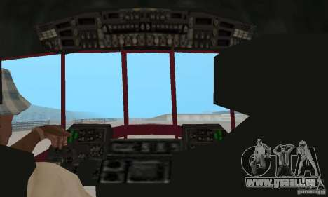 MI-17 zivil (Deutsch) für GTA San Andreas Rückansicht