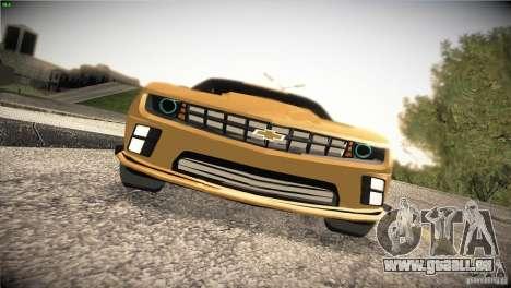 Chevrolet Camaro SS Transformers 3 für GTA San Andreas Innenansicht