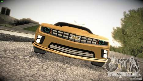 Chevrolet Camaro SS Transformers 3 pour GTA San Andreas vue intérieure